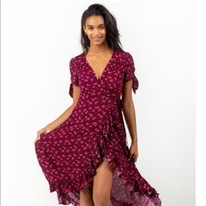 Francesca's - NWOT - Khloe Floral Wrap Dress